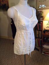 2DIE4 antique vtg Edwardian Victorian st 20s Damask corset girdle garter bridal