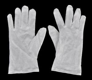 1 Paar weiße Laborhandschuhe - Größe L - aus Baumwolle - NEU
