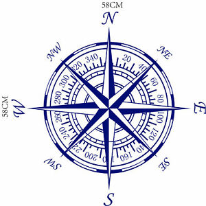 Nautical Compass Wall Decal Vinyl Decor Home Background Stickers Paper Art