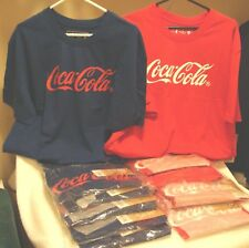 2 Coca Cola Fashion T-Shirts Men's XL Red +  XL Navy (New with Tags) FREE SHIP
