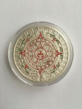 Silver Plated Mayan Prophecy Aztec Gold Calendar Coin