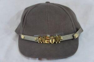 BCBG BCBGeneration Hat Sz OS Cashew Brown Baseball Cap Meow Removable Charm