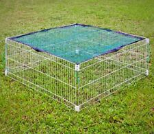 Rabbit Run with net Cover Square Metal Mesh Outdoor Enclosure Activity Centre