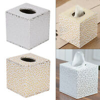 Home Square PU Leather Tissue Box living room Toilet Holder Cover Paper Case