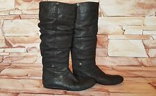 PRADA Genuine Woman Brown Suede Premium Leather Knee-High Boots Size 37.5 UK 4.5
