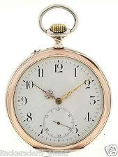IWC LEPINE TASCHENUHR IN 800er SILBER PROBUS SCAFUSIA CA 1890 SELTENE SAMMLERUHR