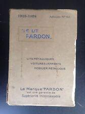 Ancien catalogue 1925 Lit pardon Literie landaus BON ETAT