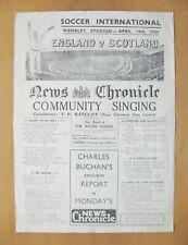 More details for scotland v england 1934 song sheet *fair/good condition*