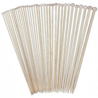 18 Sizes 36cm Single Pointed Bamboo Knitting Needles Set Kit (2.0mm - 10.0 B1X3