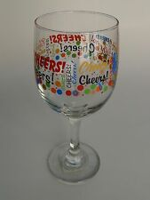 Drink WINE GLASS ~ CHEERS! ~ See STORE for 100s of GIFT IDEAS ~ Ships Worldwide