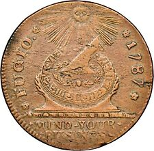 1787 Fugio Cent Colonial Copper NGC MS Uncirculated Details Env Dmg Looks Red Br