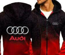 2020 Audi Automobile Kapuze Reißverschluss Jacke Men's Hoodie Sportbekleidung !