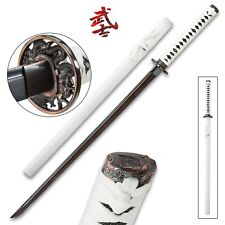 Damascus Black Steel Hand Forged Chokuto Sword Razor Sharp full tang Dark red JP