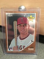2011 TOPPS CHROME MARK TRUMBO ROOKIE PARALLEL CARD SP# ANGELS BALTIMORE ORIOLES