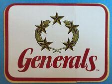 Rare Vintage 1980's New Jersey Generals USFL Football Decal Sticker Donald Trump