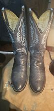 JUSTIN BOOTS COWBOY WESTERN LEATHER BOOTS..9D