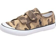 Ralph Lauren Junior Canvas Shoes Olive Camo Uk Size 13