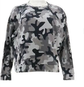 GILI Printed Pullover Sweatshirt Navy Camo XS NEW A370667
