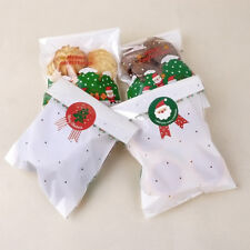 80pcs Christmas Label Paper Sticker Package Sealing for Cookie Candy X'mas Gift