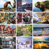 DIY Natural Scenery Paint By Number Kit Oil Painting Home Casual Game Drawing