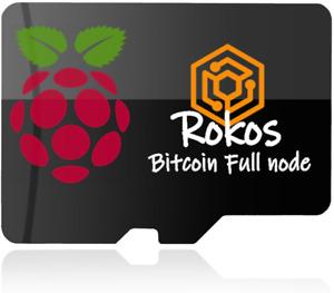 ROKOS Core Bitcoin for Raspberry Pi micro SD Card Compatible with 2, 3 & 4