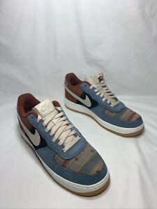 "NikeiD Air Force 1 ""Pendleton"" Men's Size 10.5 RUST/SAIL-BLUE  DJ2675 991"