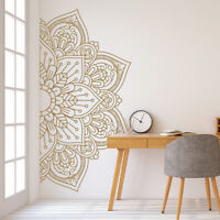 Mandala in Half Wall Sticker, Removable Wall Decal, Sticker for Meditation #11