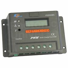 20A solar panel charge controller / regulator with LCD display for camper / boat