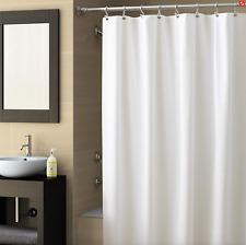 """Bath Decor White 70X78"""" Vinyl Shower Curtain Liner/Metal Grommets/Suction Cups"""