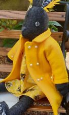 Stunning Luna Lapin Handmade Wool Coat In Sunflower Yellow, With Pearl Buttons