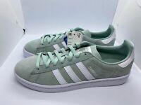 adidas Originals Campus Ash Green White Men Size 9 New Classic Sneakers BD0982