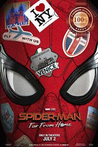 SPIDER-MAN FAR FROM HOME MASK ORIGINAL CINEMA MOVIE PRINT PREMIUM POSTER