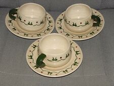 3 Sets - Homestead Provincial Poppytrail Metlox Cup Saucer Farm California Made