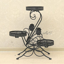 Black 3 Tiered Plant Stand Display Indoor Potted Plants Flowers Organizer OZ