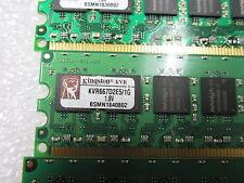 Kingston 4 x1GB SDRAM DDR PC Memory Card KVR667D2E5/1G 1.8V