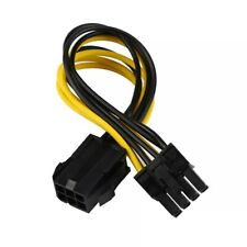 PCI-E Male 6-Pin To Female 8-Pin 12v CPU EPS Power Connector Adapter 15cm Cable