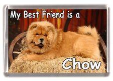 "Chow Chow Dog Fridge Magnet ""My Best Friend is a Chow""  Starprint"