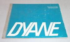 Manual de instrucciones de citroen Dyane stand 09/1969