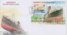 Unaddressed Jersey First Day Cover FDC 2011 Shipwrecks Sheet