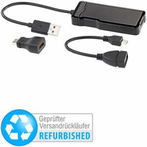 auvisio USB-HDMI-Videograbber für Videos bis Full HD (1080p),Versandrückläufer