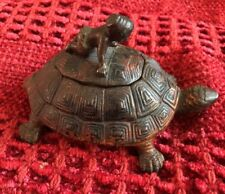 vintage cast iron turtle w/insert inkwell black American Boy Cover