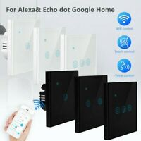 1 2 3Gang Smart WiFi Light Switch Panel Remote Touch Ctrl For Alexa Google Home