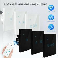 1/2/3/4 Gang WiFi Smart Light Switch Wall Remote Touch Control For Alexa Google