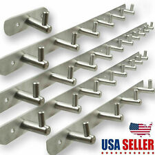Stainless Steel Coat Robe Hat Clothes Wall Mount Hanger 3-12 Hooks Towel Rack Us