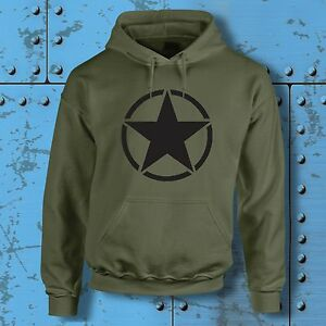 US Army Star Hoodie USA Military WW2 MOD Hood american classic Car Truck