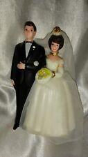 "VINTAGE WEDDING CAKE TOPPER BRIDE GROOM 4"""