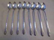 Eight (8) Crown Silverplate Radiance Ice Tea / Parfait Spoons