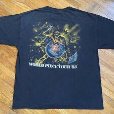 Iron Maiden 2009 World Peace Tour 1983 T Shirt Eddie Vintage Faded Crazy 80s 90s