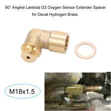 90 Angled O2 Oxygen Sensor Extender Spacer Brass Fit For Decat Hydrogen M18x1.5