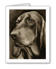 Black And Tan Coonhound note cards by watercolor artist Dj Rogers